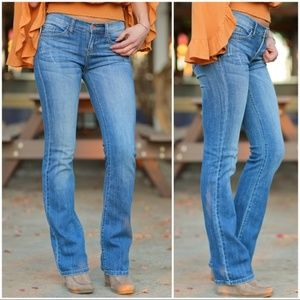 Denim - Medium Wash Boot Cut Jeans